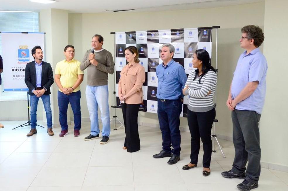 Prefeitura de Rio Branco sancionou leis propostas pelo vereador Eduardo Farias — Foto: Fagner Delgado/Ascom Prefeitura de Rio Branco