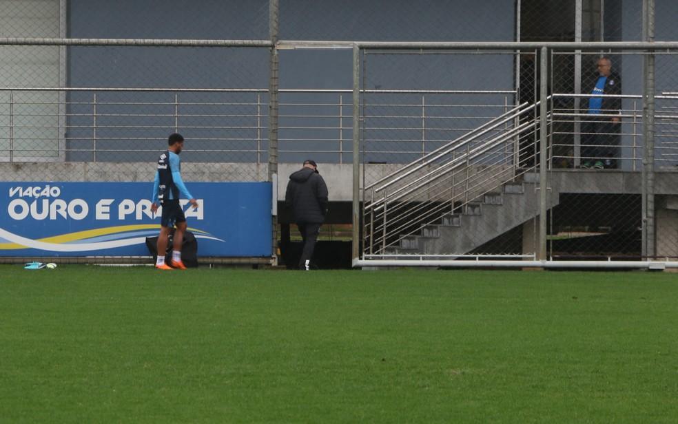 André deixa o jogo-treino após golaço no primeiro tempo (Foto: Eduardo Deconto)