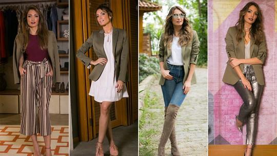 Patrícia Poeta ensina como usar o clássico blazer em 4 looks estilosos