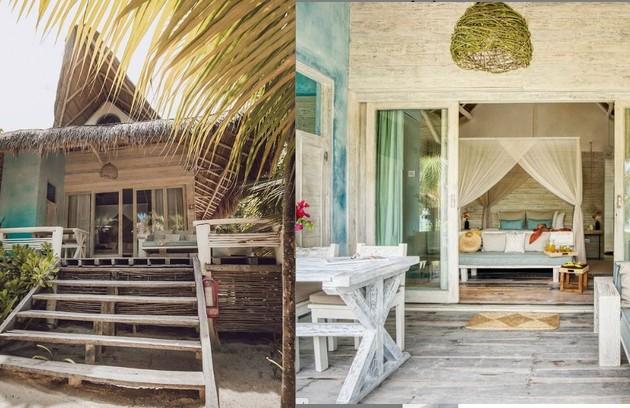 Quarto de Sasha tem vista para o jardim e fica a poucos metros da praia. A diária custa mais de R$ 2.600  (Foto: Reprodução)