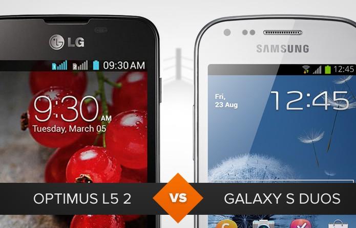 Optimus L5 2 e Galaxy S Duos (Foto: Arte/TechTudo)