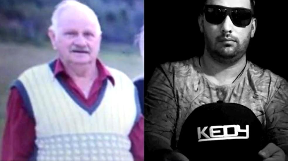 Pai e filho, Vendolino Borghezan, de 71 anos, e Clederson Borghezan, de 32, morreram por Covid em SC  — Foto: NSC TV/Reprodução