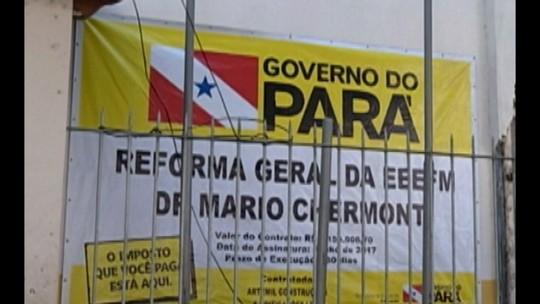 Obra atrasada de mais de R$ 1 milhão deixa alunos sem aula na escola Mário Chermont