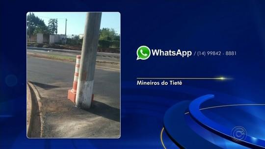 Confira as reclamações de moradores pelo WhatsApp da TV TEM