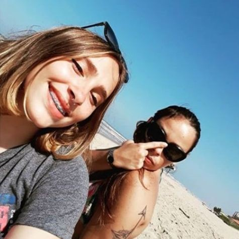 Gisele Frade com a filha Sophia Luz (Foto: Reprodução)