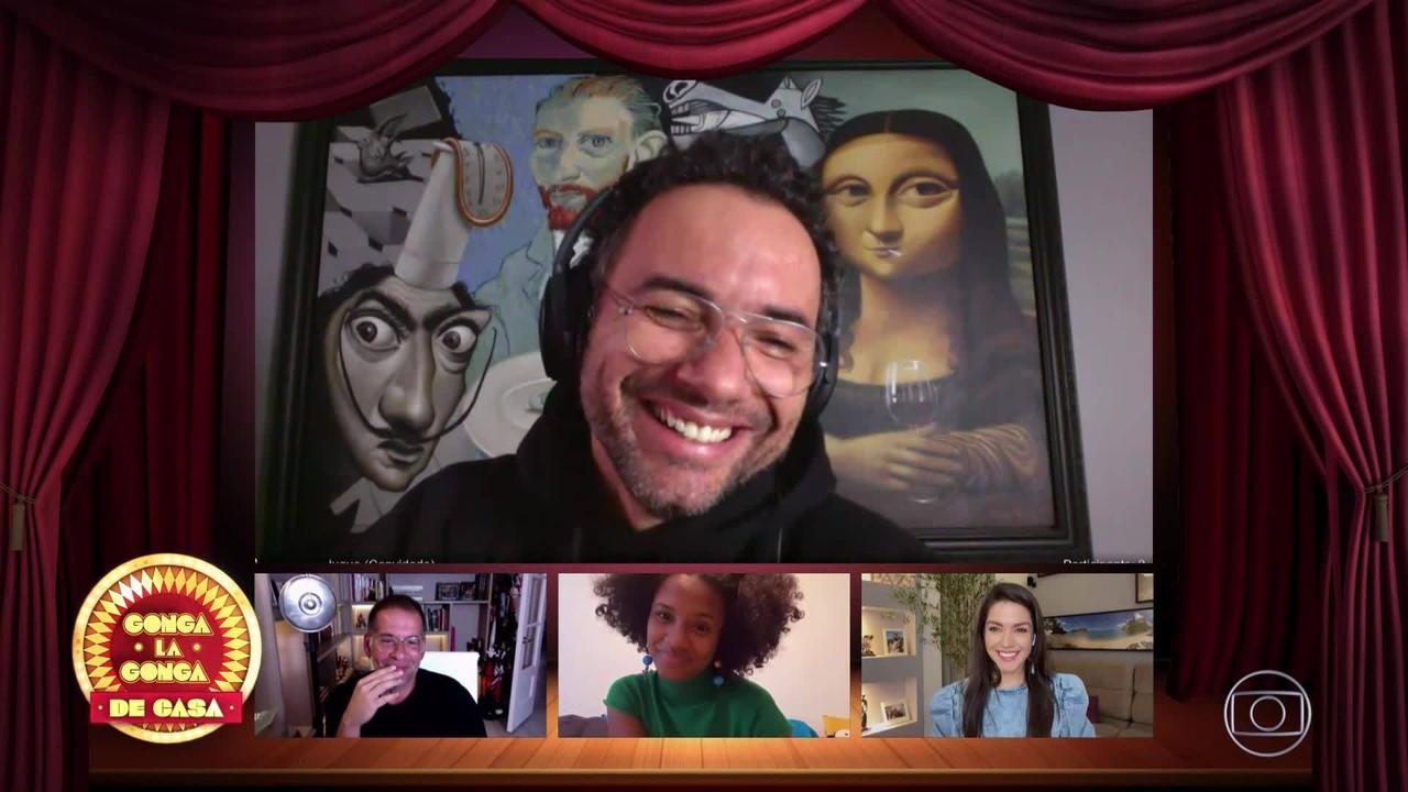 Leandro Hassum, Jéssica Ellen e Thaís Fersoza são os jurados do 'Gonga La Gonga'