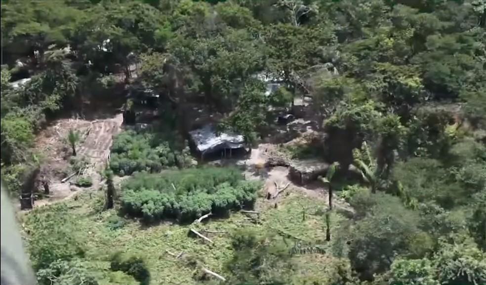 Fazenda onde deve ocorrer a reintegração de posse em Chupinguaia — Foto: Facebook/Reprodução