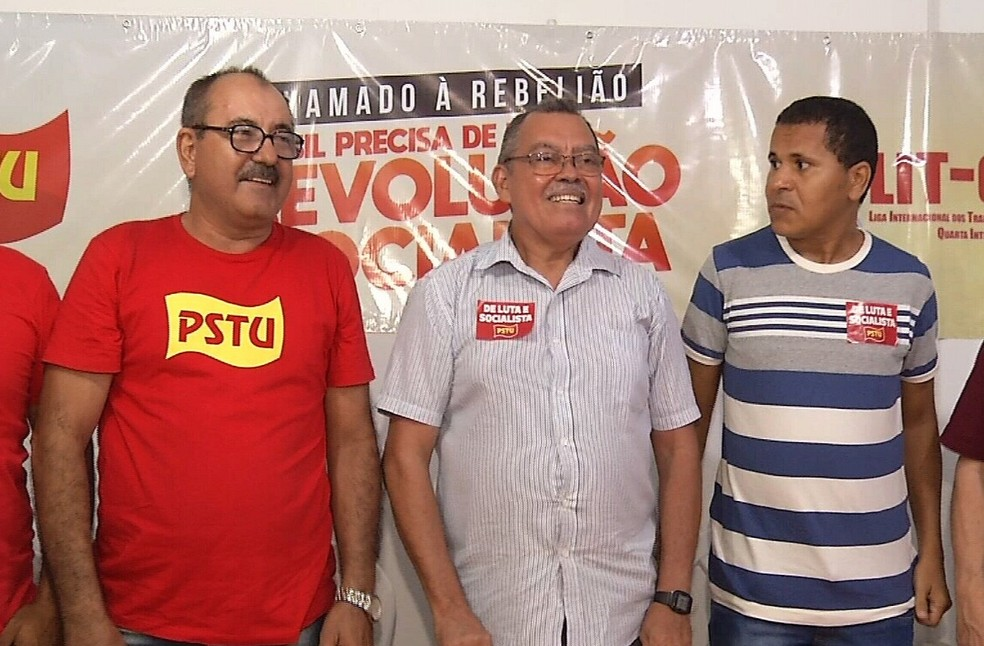 PSTU confirma candidatura de Francisco Gonzaga a governador do Ceará (Foto: TV Verdes Mares/Reprodução)