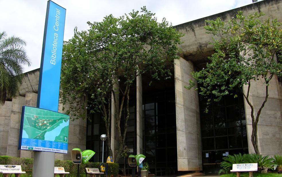 Fachada atual da Biblioteca Central da universidade  (Foto: UnB Agência)