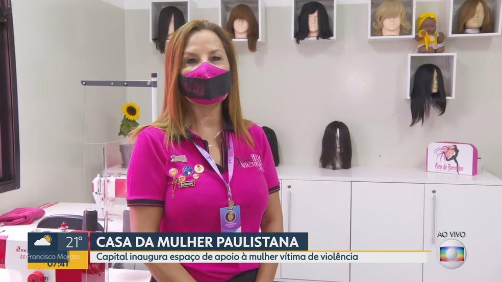 Prefeitura de SP inaugura 'Casa da Mulher Paulistana' na Zona Sul de SP — Foto: Reprodução/TV Globo