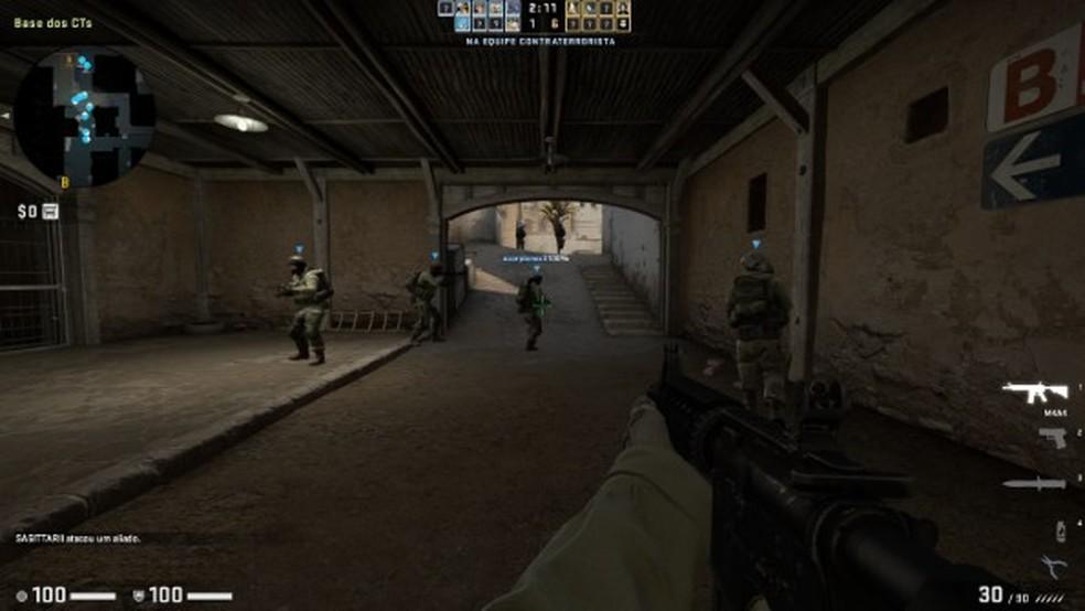 O mapa Dust2 é popular em ambos os games, mas tem gráficos atualizados no CS:GO — Foto: Reprodução/Lucas Batista
