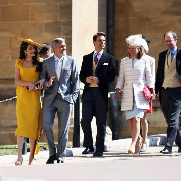 Amal E George Clooney Chegam Ao Casamento De Meghan Markle