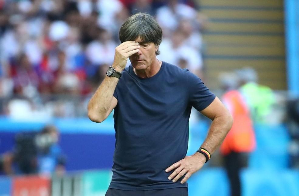 Löw ficou decepcionado com o desempenho da Alemanha contra a Coreia (Foto: REUTERS/Michael Dalder)
