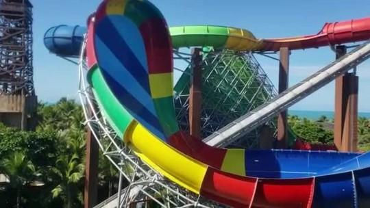 Turista morre após cair de novo  toboágua no Beach Park
