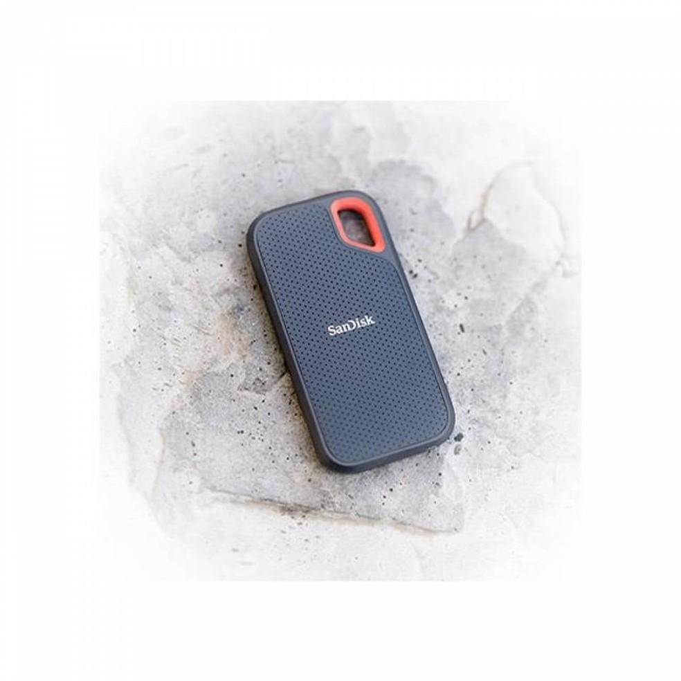 O SSD possuí design resistente à quedas � Foto: Divulgação/SanDisk