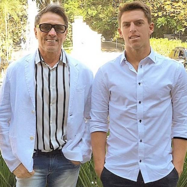 Amaury Nunes e o pai (Foto: Reprodução/Instagram)