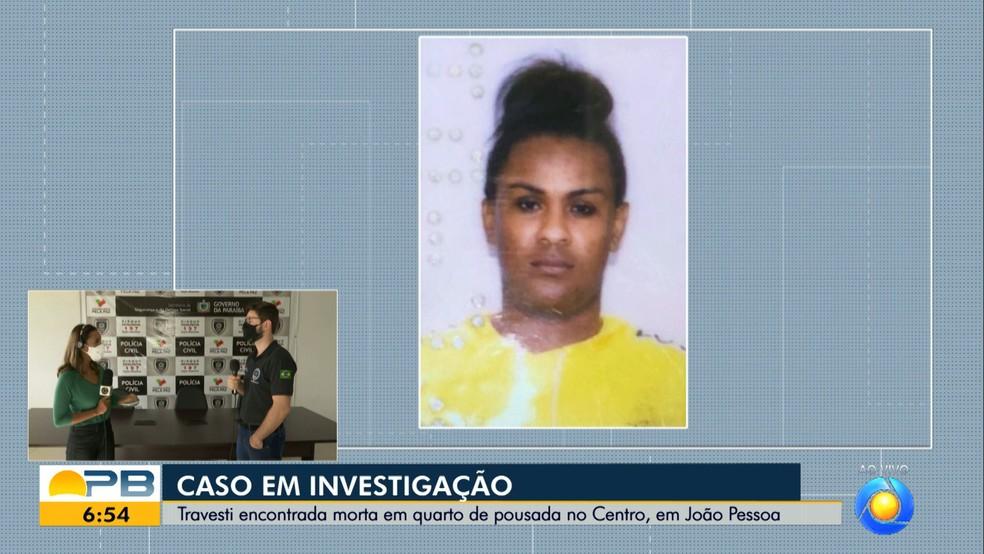 Travesti é morta por enforcamento   em quarto de pousada em João Pessoa — Foto: Reprodução/TV Cabo Branco