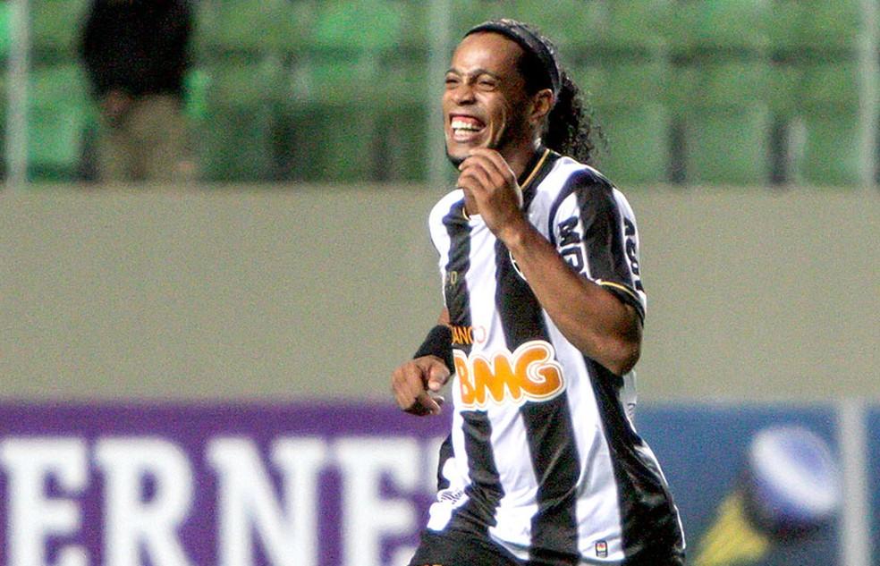Ronaldinho Gaúcho era a estrela do Atlético-MG em 2012 — Foto: Bruno Cantini / Site Oficial do Atlético-MG