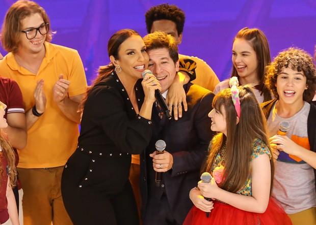 Ivete Sangalo, Sophia Valverde, Daniel e Eliana (Foto: Manuela Scarpa / Brazil News)