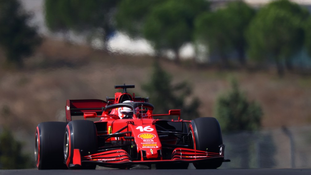 Charles Leclerc mostrou a evolução da Ferrari e vai largar em terceiro no GP da Turquia — Foto: Dan Istitene/F1 via Getty Images
