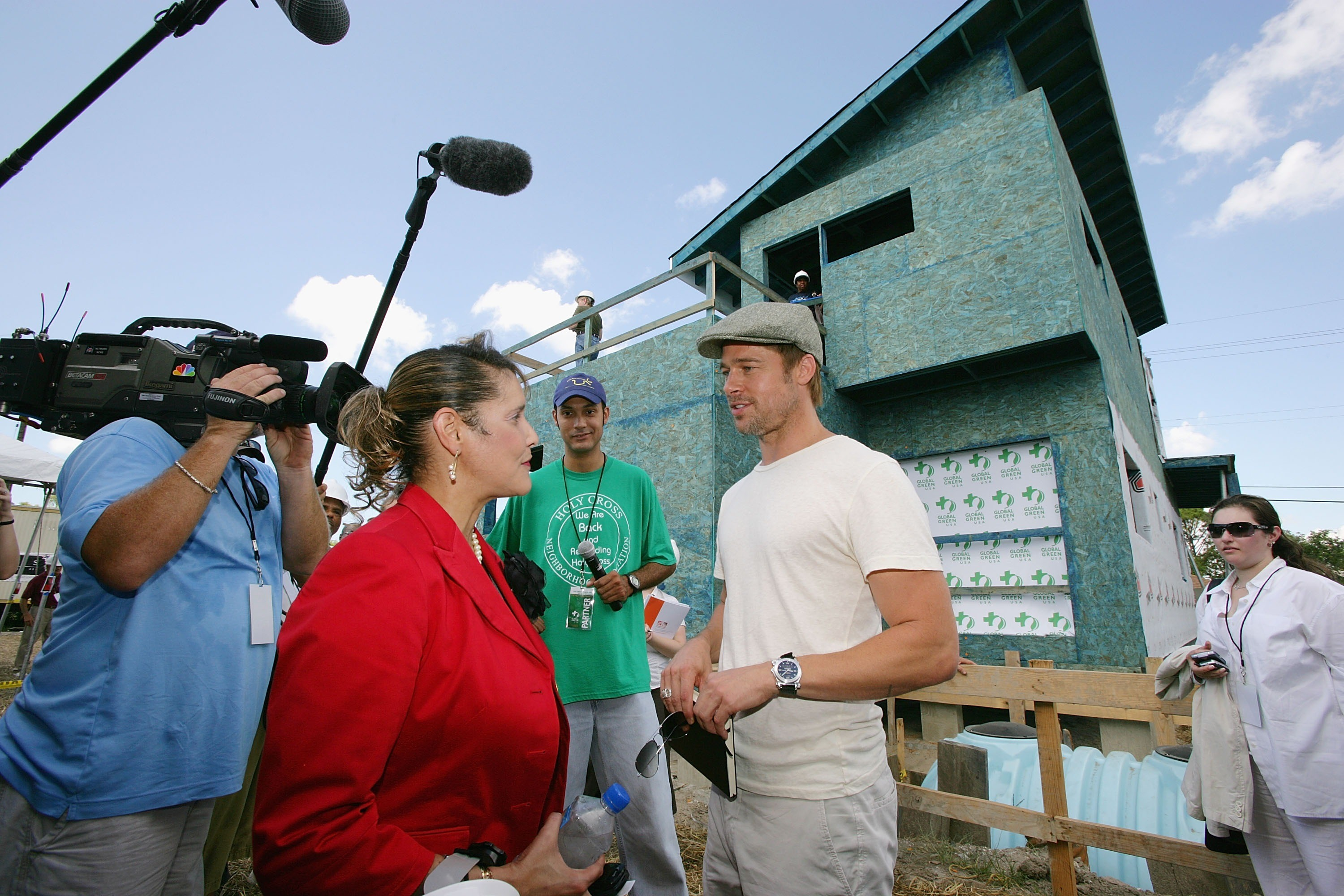 Brad Pitt in 2007, at a press conference on the project for the construction of houses in New Orleans, louisiana (picture: Getty Images)