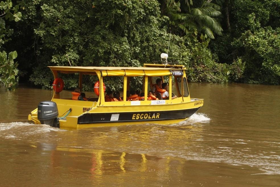 Transporte escolar fluvial não tem dada para ser retomado em Porto Velho.  (Foto: Oswaldo Forte/ Comus)