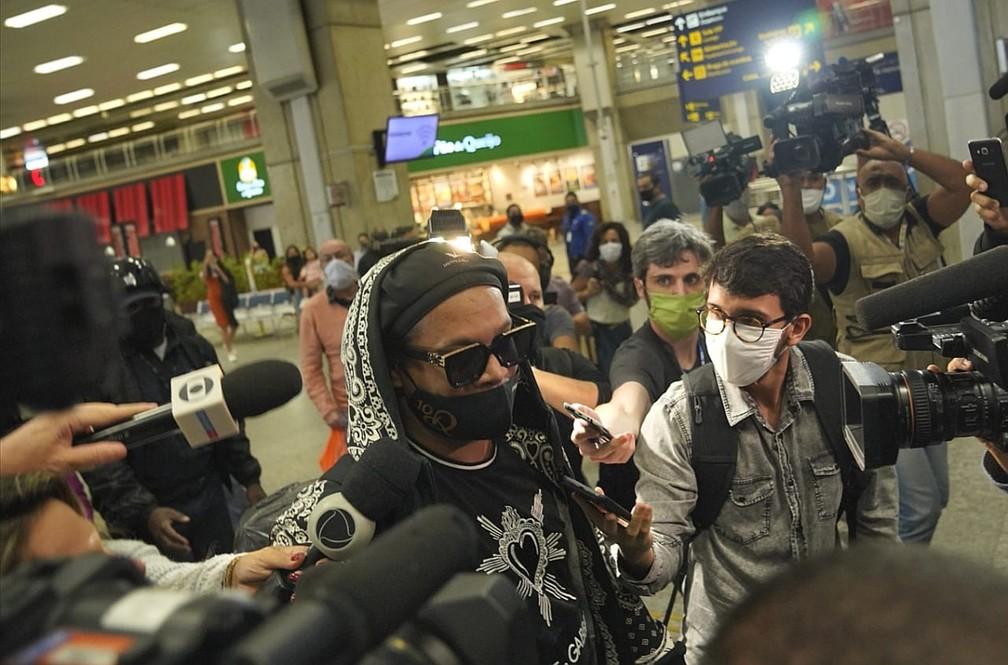 Ex-jogador não falou com a imprensa — Foto: Marcos Serra Lima/G1