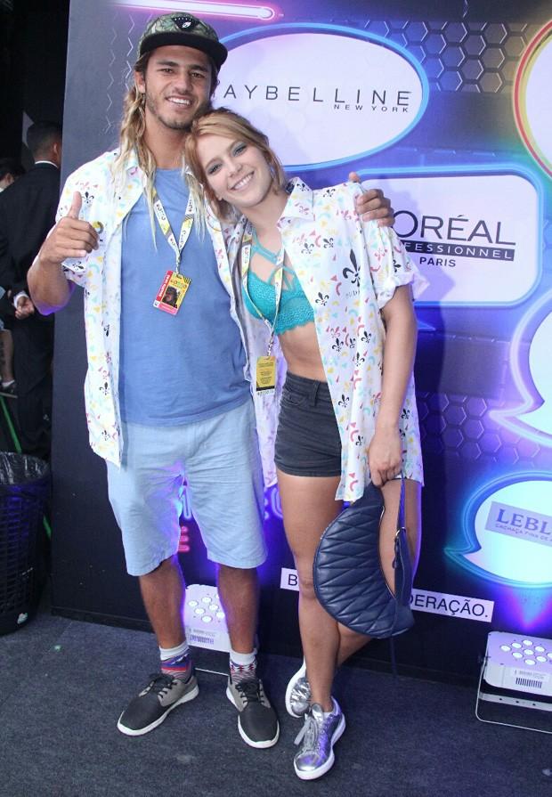 Isabella Santoni e Caio Vaz (Foto: Wallace Barbosa/AgNews)