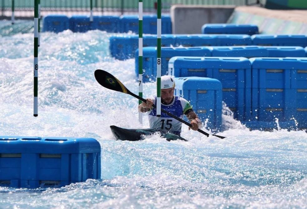 Pepê Gonçalves foi para Tóquio para disputar canoagem slalom — Foto: Instagram/Reprodução