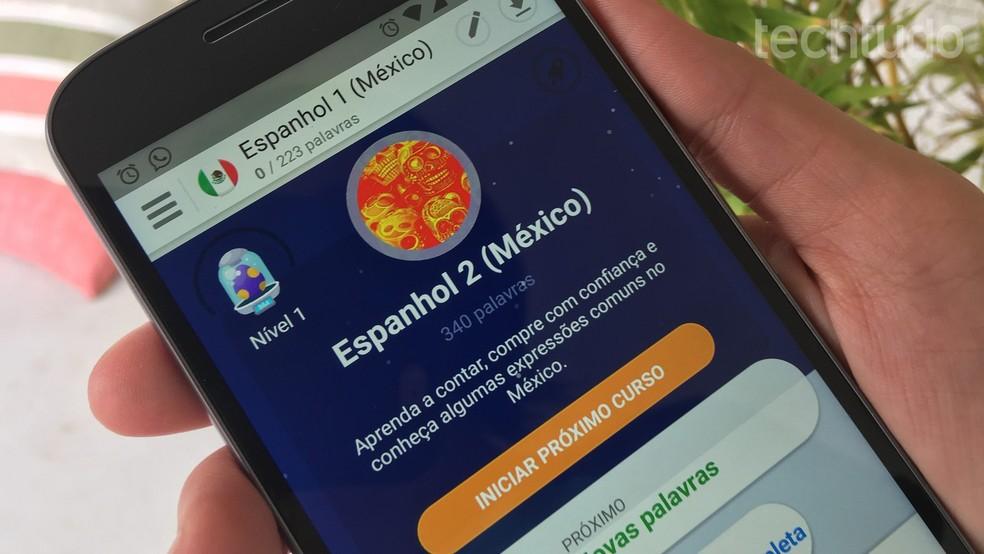 Memrise também tem versão para celular e ensina idiomas como inglês e espanhol — Foto: Isabela Cabral/TechTudo