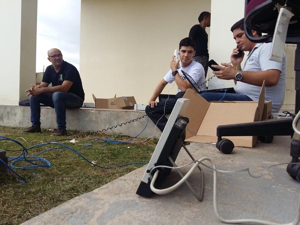 Transmissão de votos via satélite no estado do Pará; tecnologia facilita que resultado chega antes ao TSE — Foto: Arquivo pessoal / Secretaria de Tecnologia da Informação do Tribunal Regional Eleitoral do Pará