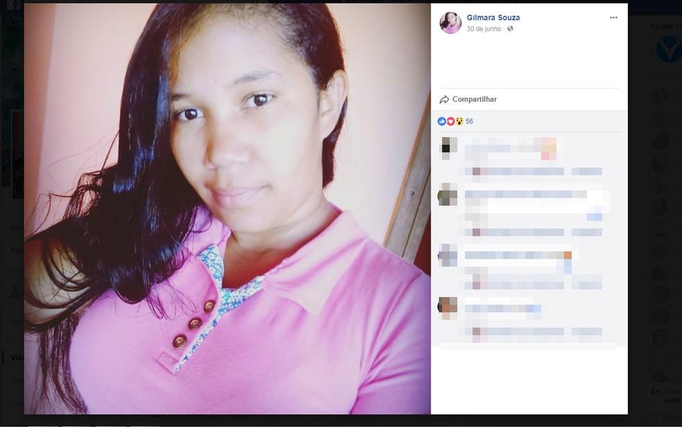 Gilmara Souza também morreu em capotamento em rodovia na Bahia (Foto: Reprodução/ Facebook)