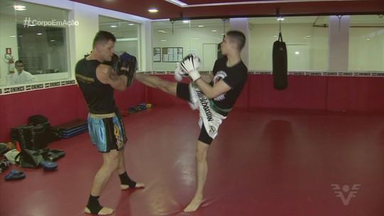 Filho de Fabio Costa, ex-goleiro do Santos, é campeão paulista de kickboxing
