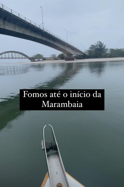 Guilherme esteve na Restinga da Marambaia— Foto: Reprodução/Redes Sociais