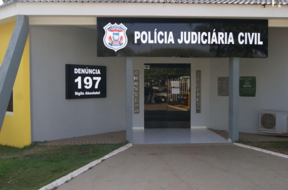 Suspeito foi encaminhado à Delegacia de Lucas do Rio Verde (MT) — Foto: Prefeitura de Lucas do Rio Verde