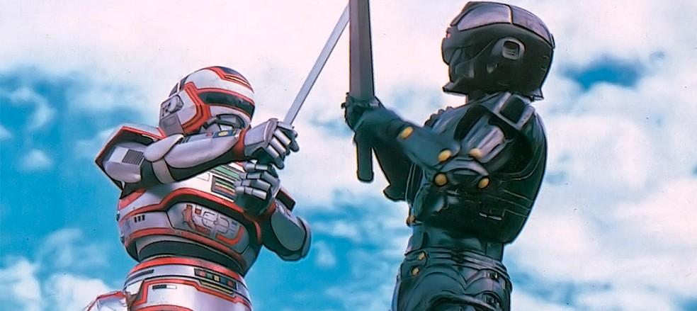 Jaspion em cena de série de TV japonesa (Foto: Divulgação)