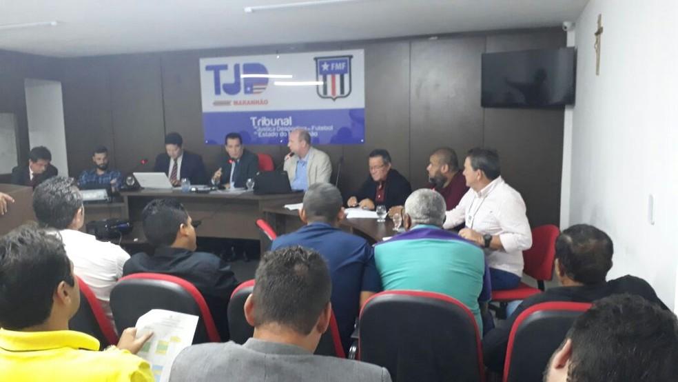 Congresso Arbitral para discutir o Campeonato Maranhense 2018 (Foto: João Ricardo)