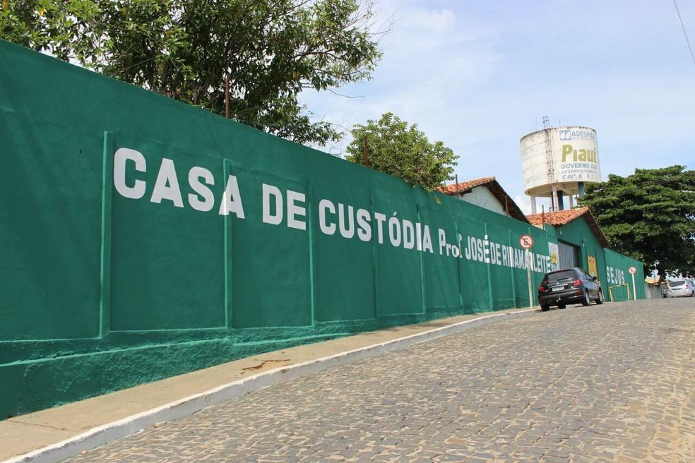 Casa de Custódia em Teresina — Foto: Fernando Brito/G1