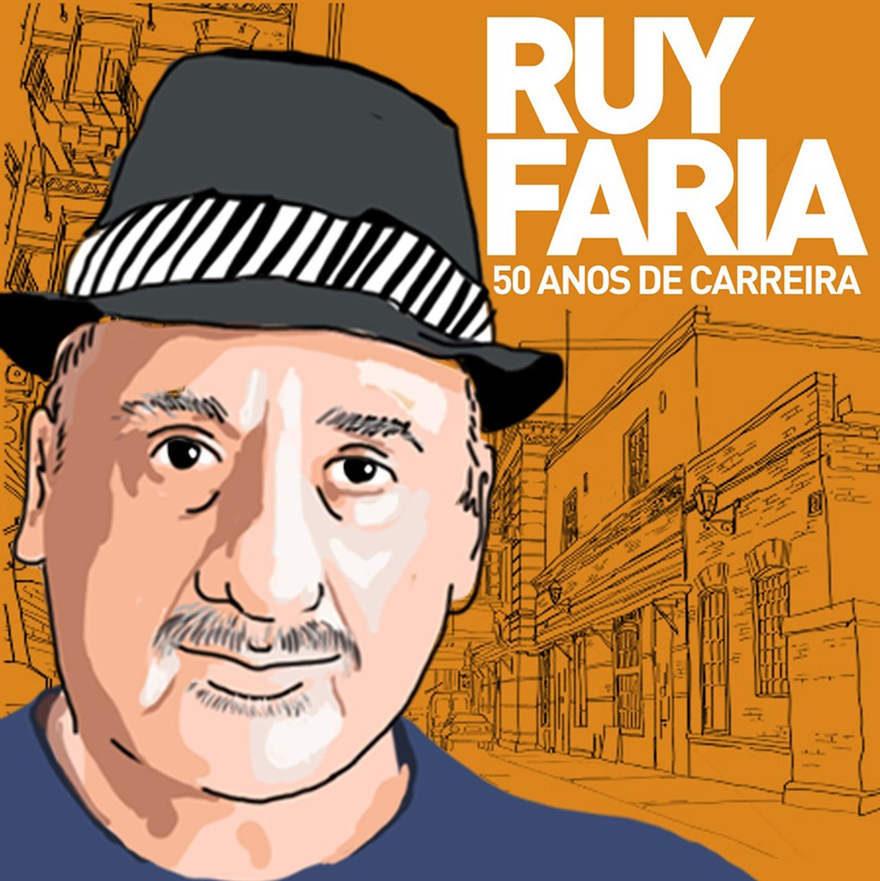 Capa do álbum '50 anos de carreira', de Ruy Faria (Foto: Divulgação)