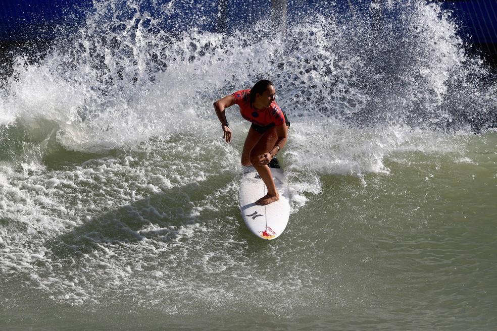 Carissa Moore no Surf Ranch (Foto: Sean M. Haffey/Getty Images)
