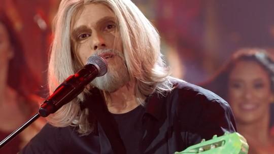 Hugo Bonemer é o melhor da noite com homenagem a Oswaldo Montenegro no 'Show dos Famosos'