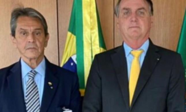 Roberto Jefferson e o presidente Jair Bolsonaro