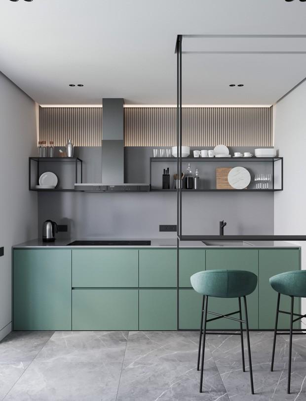 Cozinhas coloridas: 9 modelos para uma decoração contagiante (Foto: Reprodução)