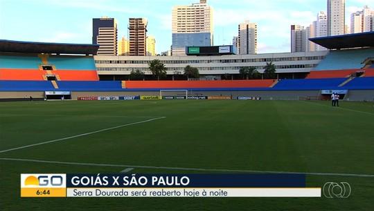 Jogo entre Goiás e São Paulo marca reabertura do Serra Dourada; veja fotos do estádio