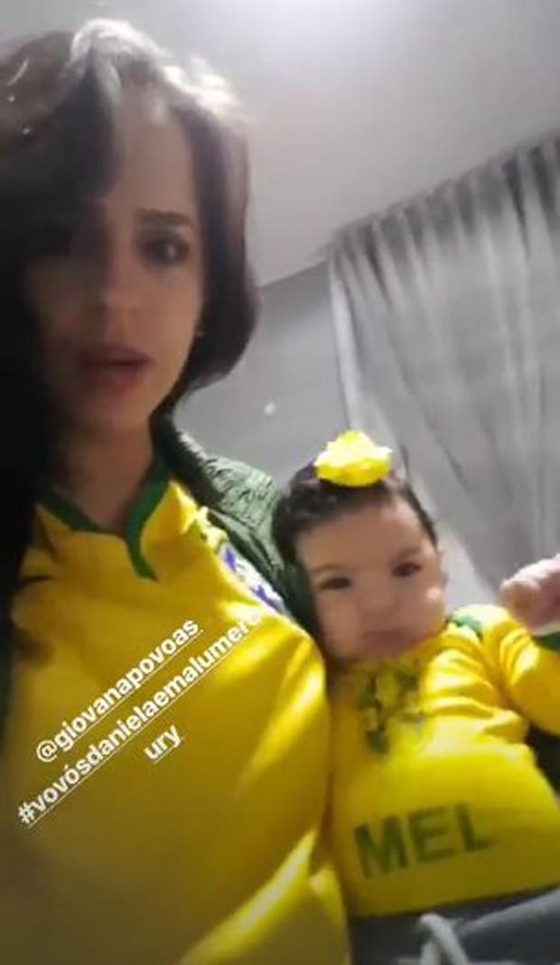 Giovana e Mel, filha e neta de Daniela Mercury  (Foto: Reprodução/Instagram)