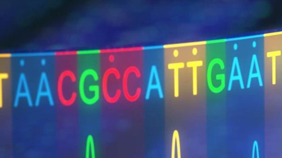 Nosso código genético é representado pelas letras A, C, G e T — Foto: Getty Images/BBC