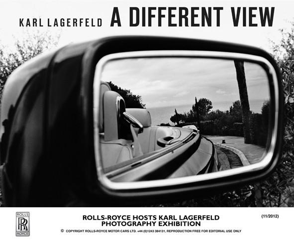 Cartaz da exposição de fotos de Rolls-Royces por Karl Lagerfeld (Foto: Reprodução/Rolls-Royce)