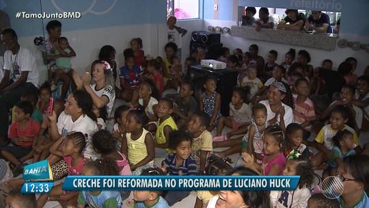 Creche no bairro de Alto de Coutos é destaque no programa Caldeirão do Huck