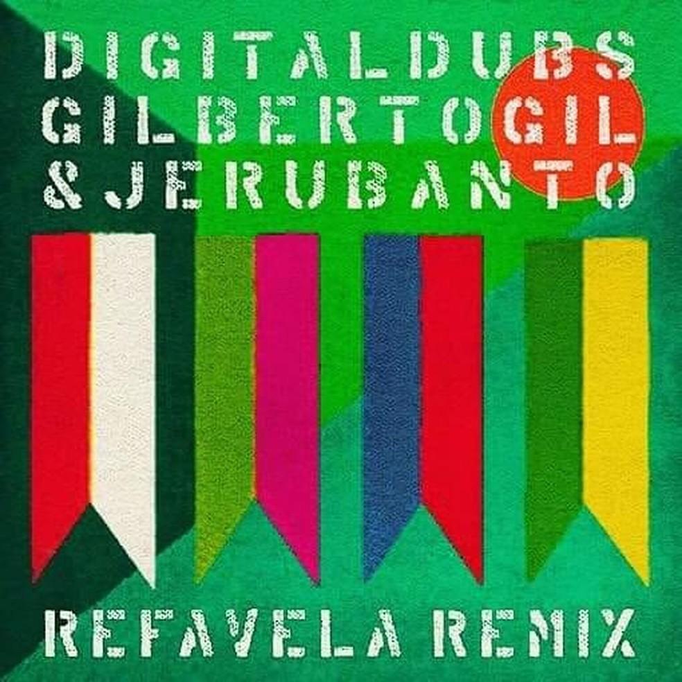 Capa do single 'Refavela remix', de Digitaldubs com Gilberto Gil e Jeru Banto — Foto: Divulgação
