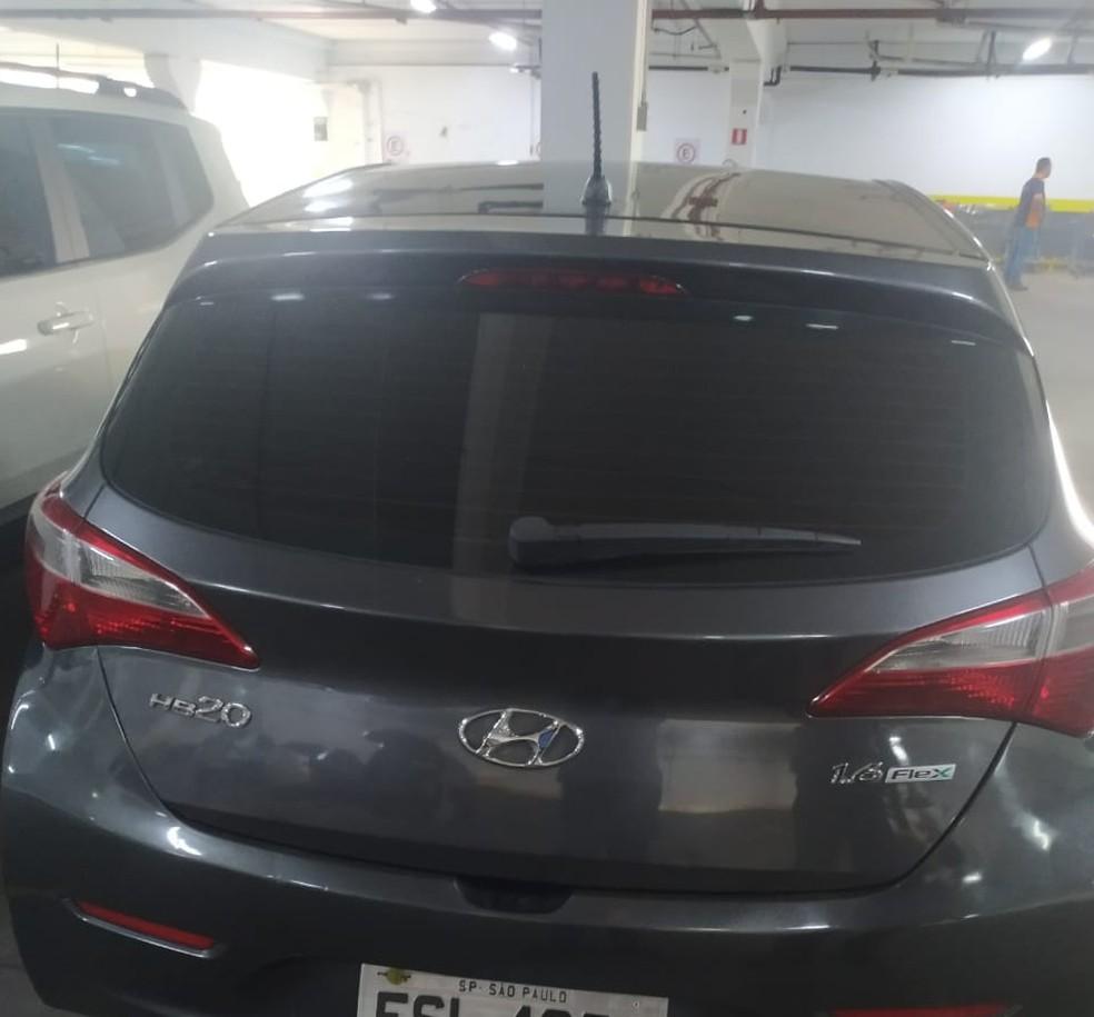 Carro usado pelos suspeitos que aplicavam golpes em Sumaré— Foto: Secretaria de Segurança Pública de Sumaré